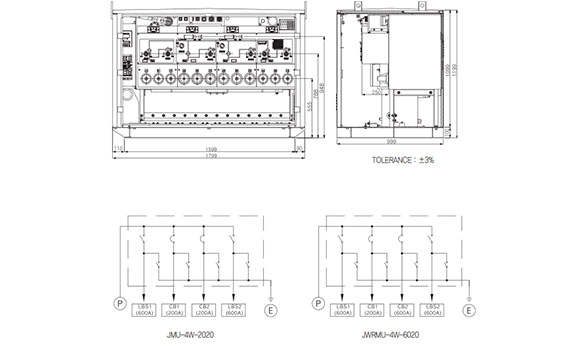 24kv 4 way automatic line switch (ring main unit) for underground  dimension-layout